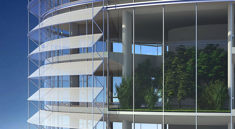 Innovative Solar Shading Device To Reduce High Rise Co2