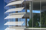 Innovative solar shading device to reduce high-rise CO2 emissions by 30%.