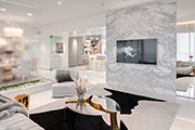 A Reflective White and Gold Trendsetting Home Design