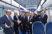 Alstom presents to RTA a full size train Mock-up for the Route 2020