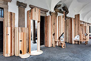American Hardwood Collaboration with Benedetta Tagliabue of EMBT & Benchmark for Interni's Material Immaterial Exhibition