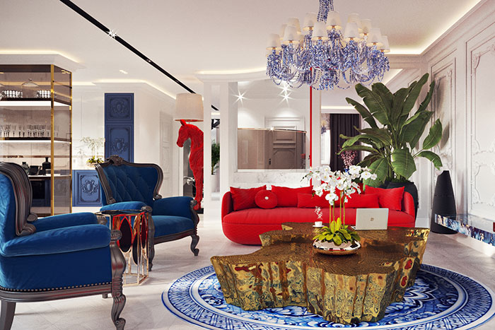 An Imposing and Eclectic Penthouse