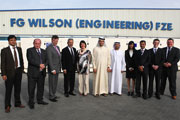 Arlene Foster, Enterprise Minister from Northern Ireland, visits FG Wilson facility in JAFZA.