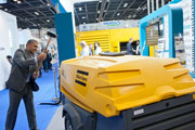 Atlas Copco showcases new generators and lighting masts at Middle East Electricity.