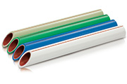 PPR/AL/PPR multilayer composite pipes with outer welded layer