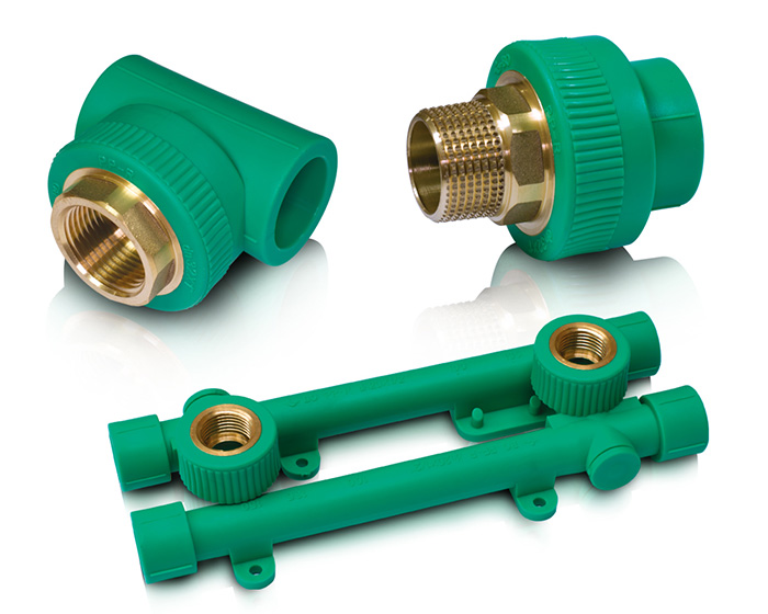 Ppr fusion fittings with brass alloy inserts blue ocean