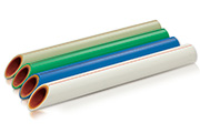 PPR/PPR-Fiberglass/PPR reinforced multilayer composite pipes