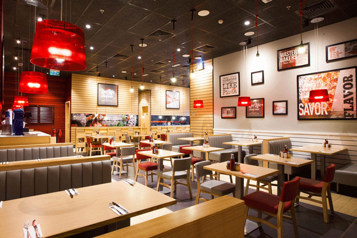Ceilings firm knauf amf chosen for pizza hut and kfc