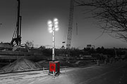 Chicago Pneumatic unveils brighter LED light tower for jobsite efficiency and safety