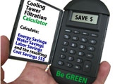 Cooling tower filtration energy savings and ROI calculator