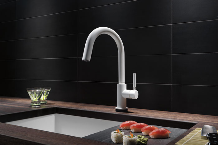Brizo   Solna Single Handle Single Hole Pull Down Kitchen Faucet With  SmartTouch