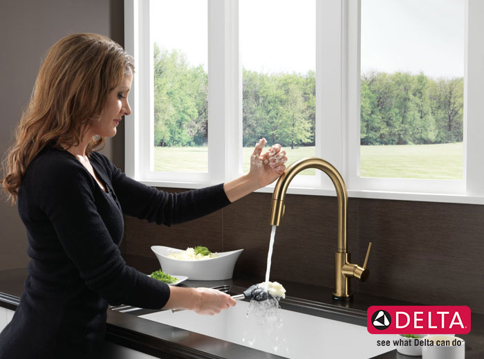 Trinsic Single Handle Pull-Down Kitchen Faucet Featuring Touch2O Technology