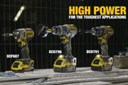 DEWALT extends the XR(R) 18V Brushless drill and impact range with three new models