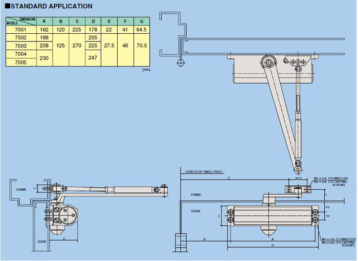 Drawing 7000 Series Al Murtaza Builders Hardware Llc
