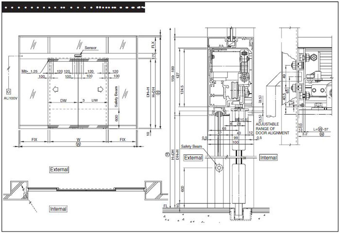 Drawing Automatic Door Operators Al Murtaza Builders