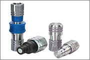 Eaton's  aluminum flat face couplings offer significant reliability benefits over plastic equivalents