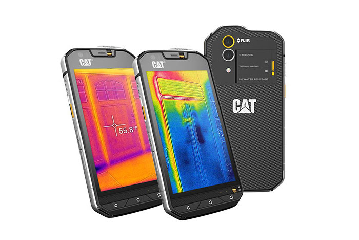 Cat S60; the world's first smartphone with an integrated thermal camera, and the world's most waterproof smartphone.
