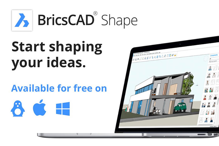 Free BricsCAD Shape now available for Linux, Mac and Windows