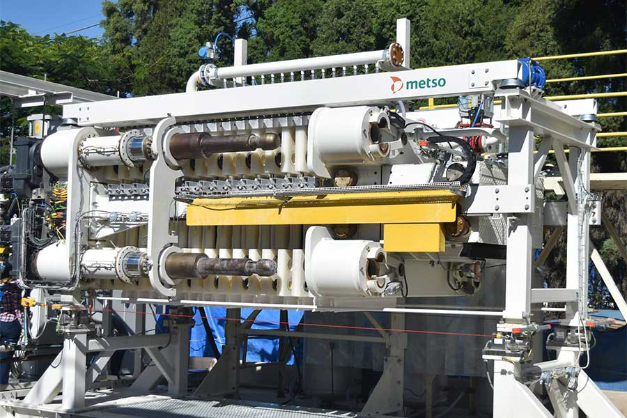 Full-Scale Testing of Metso VPX Filter For Tailings Dewatering Started in Brazil