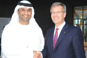 German President tours Masdar to see firsthand Abu Dhabi's efforts to accelerate renewable energy.