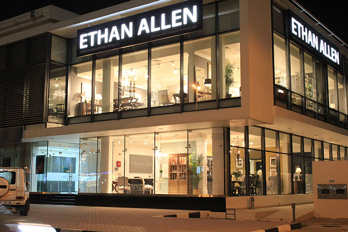 GLP fixtures light up the new Ethan Allen stores in Dubai