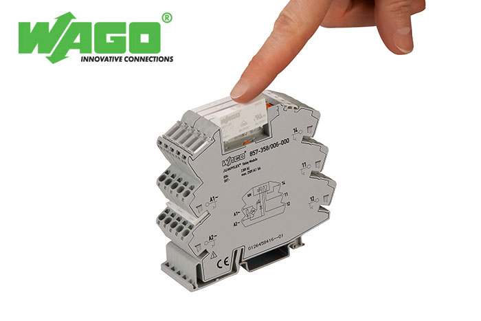 Guaranteed Operation: Socket with Miniature Switching Relay and Base Load Module