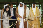 H.E. Dr. Rashed Bin Fahad, UAE Minister of Environment, inaugurates 'Dubai WoodShow 2010'.