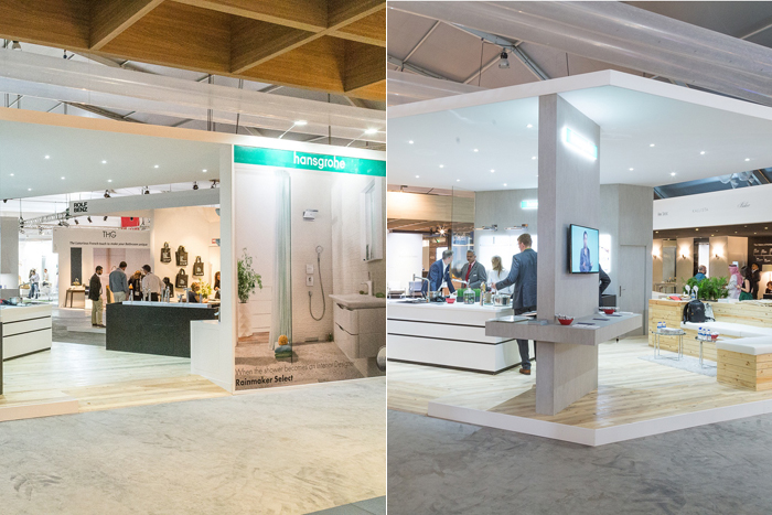 Live display of world-class Hansgrohe offerings appeals to consumers, partners, design enthusiasts and general public
