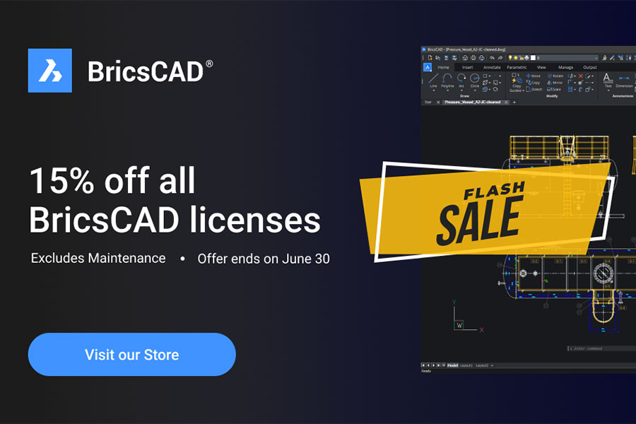 Here Is 15% Off All BricsCAD Licenses