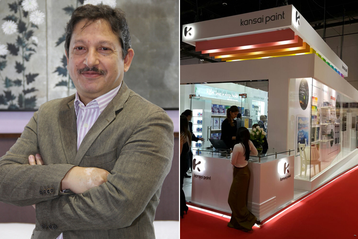 Left: Mr. Syed Ameer Hamza Hasan, CEO of Kansai Paint Middle East