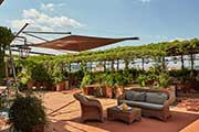 KE for Grand Hotel Baglioni in Florence - Kolibrie shades the terrace of B-Roof restaurant