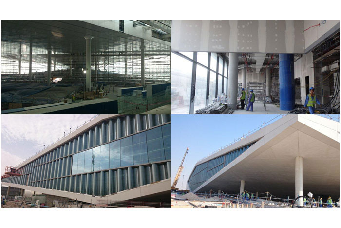 Knauf ASTM wall and ceiling systems at Qatar National Library