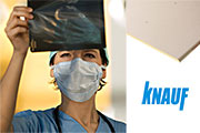 Knauf Safeboard - 100% lead-free X-ray resilient plasterboard