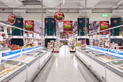 LEDs illuminate supermarkets.