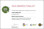 Lindner Middle East L.L.C. Finalist at The GAIA Awards 2015