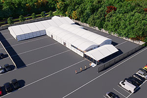 Losberger De Boer Launches Temporary Large-Scale Vaccination Centre Solution