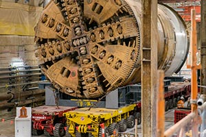 Mammoet Transportation of Tunnel Boring Machines in Melbourne