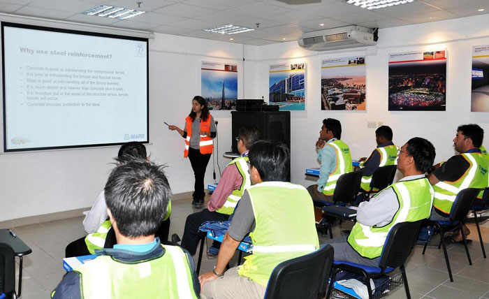 MAPEI conducts themed monthly training workshops for