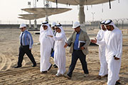 MD and CEO of DEWA visits construction of Solar Testing Facility