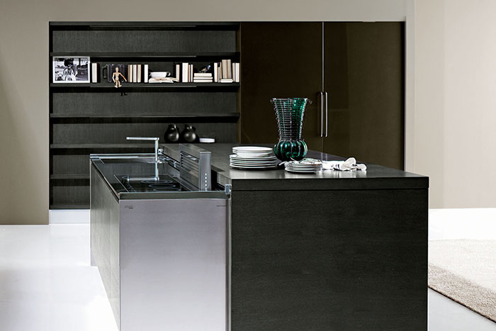 Met Metropolitan Future Kitchen - Dark grey matt kitchen