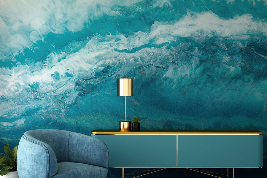 New Feathr Ocean Wall Mural Collection Dives into The Deep Blue
