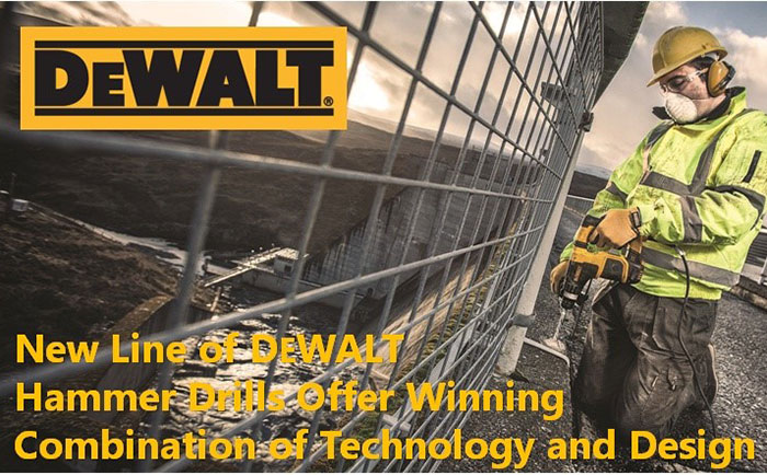 New Line of DEWALT Hammer Drills Offer Winning Combination of Technology and Design.