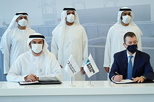 Ruler of Ras Al Khaimah Attends Signing of Agreement Between Etihad Rail and Stevin Rock