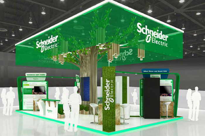 Exhibition Booth Management : Schneider electric to display smart energy and water