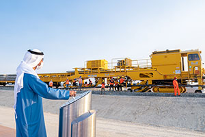 Sheikh Hamdan bin Zayed Inaugurates Track Laying Works Across Al Dhafrah Region
