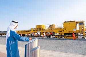 Sheikh Hamdan bin Zayed Inaugurates Track Laying Works Across Al Dhafrah Region