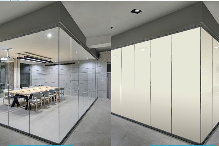 State-of-the-art switchable glass - SmartLite by Emirates Glass changes state in 400 milliseconds