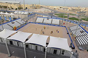 Structurflex at the Volley Ball Beach Court in Al Gharafa Sports Club