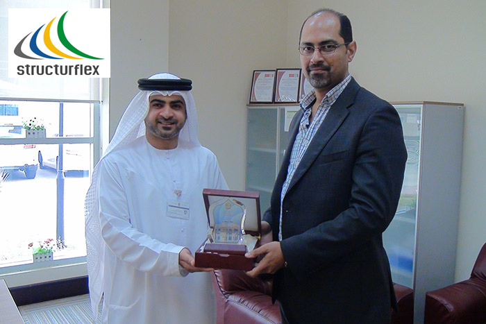 Structurflex receives an award from Ministry of Public Works, Fujairah