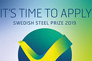 Swedish Steel Prize 2019 is now open for entry